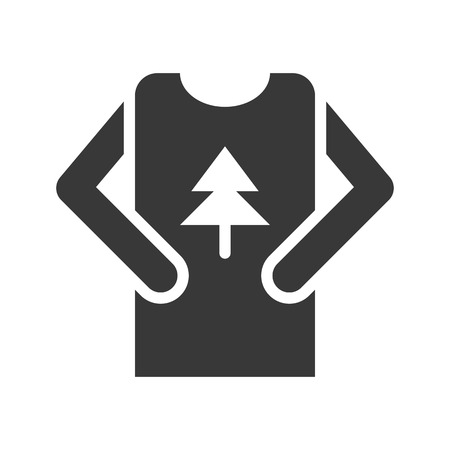 Sweater vector, Chirstmas related solid design icon