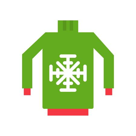 Sweater vector, Chirstmas related flat design icon Illustration