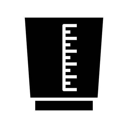 Messbechervektor, Kaffee bezogenes festes Design Vektorgrafik