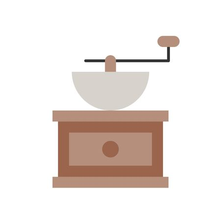 Coffee grinder vector, coffee related flat design icon