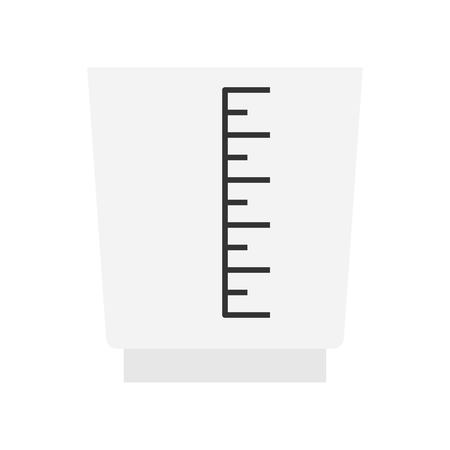 Measuring cup vector, coffee related flat design icon