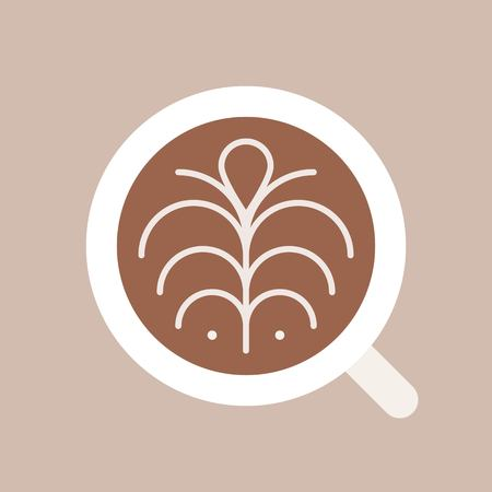 Latte vector, coffee related flat design icon