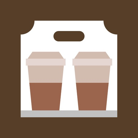 Take away coffee vector, coffee related flat design icon
