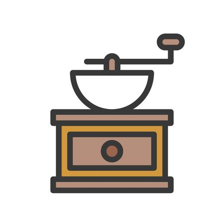 Coffee grinder vector, coffee related filled design editable stroke icon