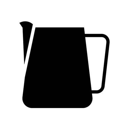 Vector de jarra, diseño sólido relacionado con el café