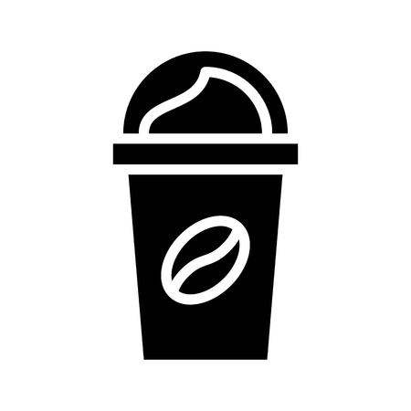 Coffee to go vector, coffee related solid design