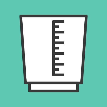 Measuring cup vector, coffee related filled design editable stroke icon