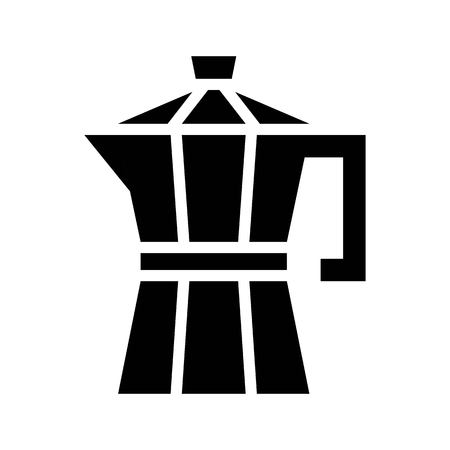 Moka pot vector, coffee related solid design Vettoriali