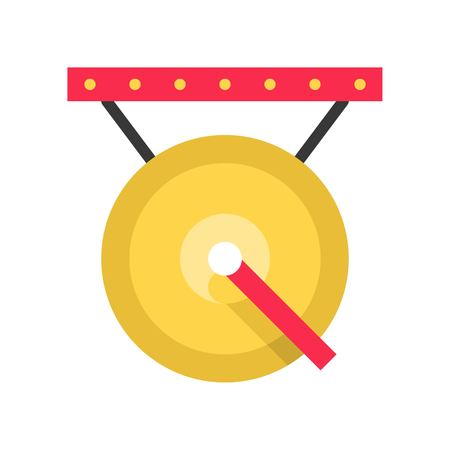 Gong vector, Chinese New Year related flat design icon