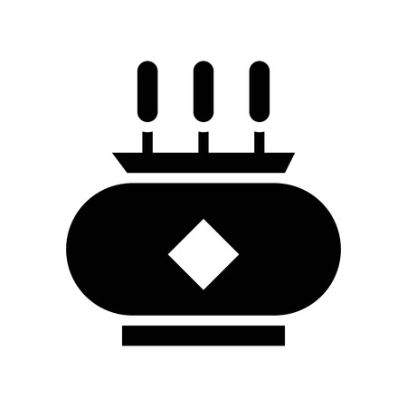 Incense pot vector