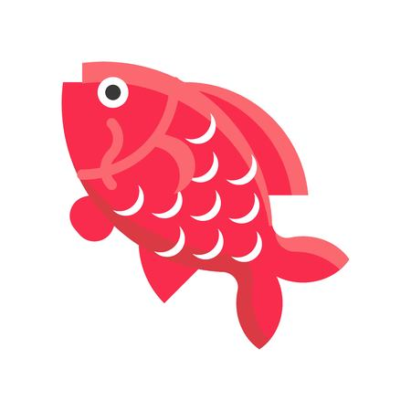 Carp vector, Chinese New Year related flat design icon