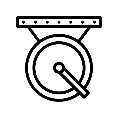 Gong vector, Chinese New Year related line design icon editable stroke
