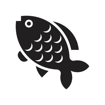 Carp vector, Chinese New Year related solid design icon  イラスト・ベクター素材