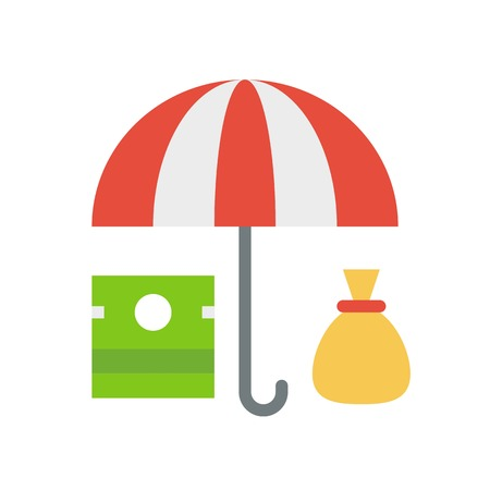 Asset protection vector, insurance related flat design icon 矢量图像
