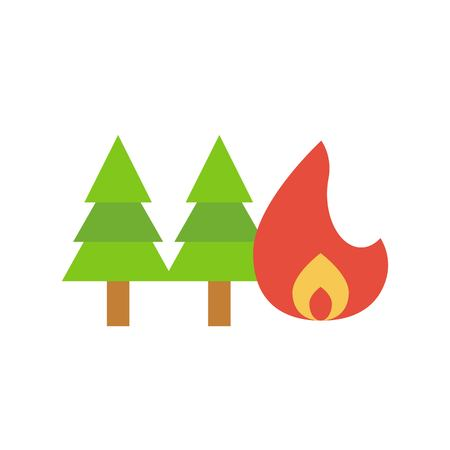 Fire insurance vector, insurance related flat design icon 일러스트