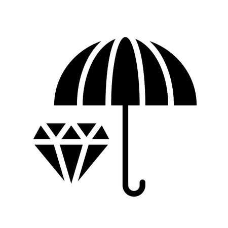 Asset protection vector, insurance related solid design icon 일러스트