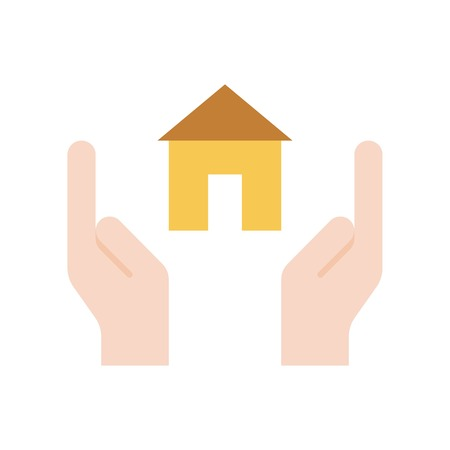 Home insurance vector, insurance related flat design icon