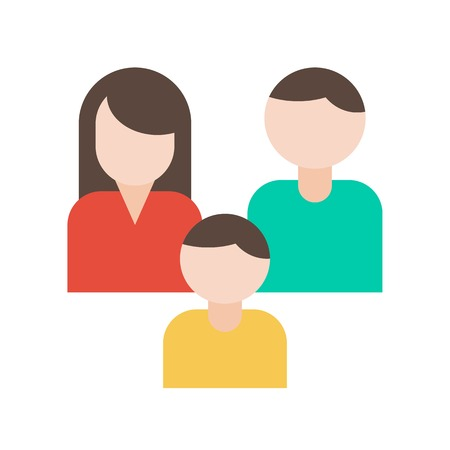 Family vector, insurance related flat design icon