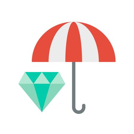 Asset protection vector, insurance related flat design icon 일러스트