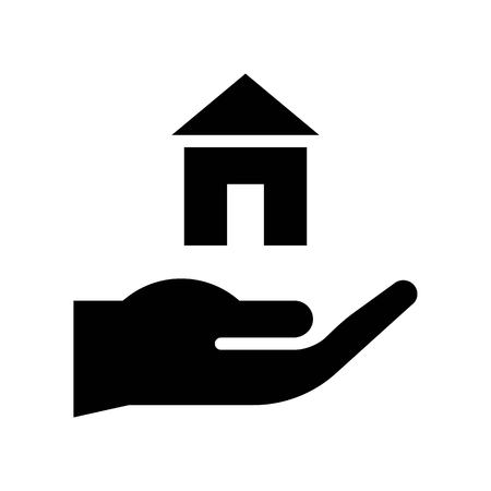 Home insurance vector, insurance related solid design icon