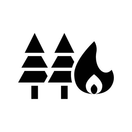 Fire insurance vector, insurance related solid design icon