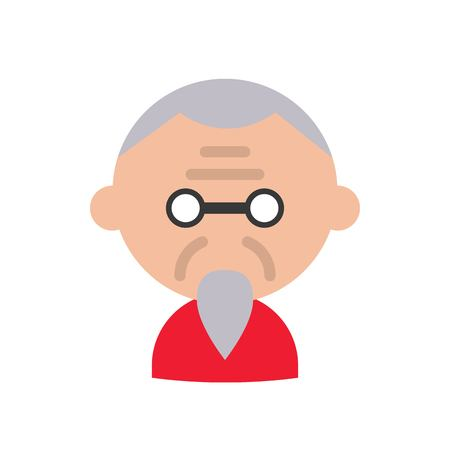 Chinese elderly vector, Chinese lunar new year flat style icon