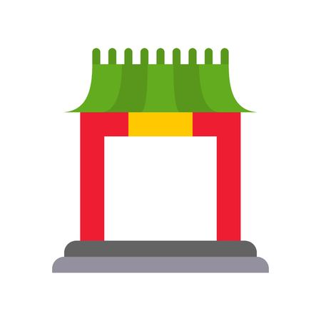 Chinese architectural arch vector, Chinese lunar new year flat style icon Illusztráció