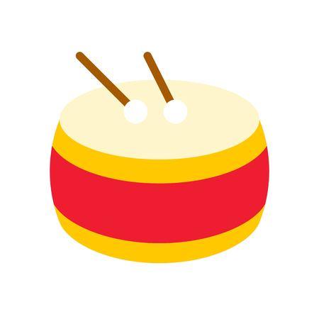 Vector de tambor, icono de estilo plano de año nuevo lunar chino