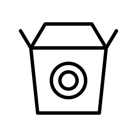 Chinese take away vector, Chinese lunar new year line style icon Çizim