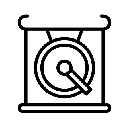 Gong vector, Chinese lunar new year line style icon