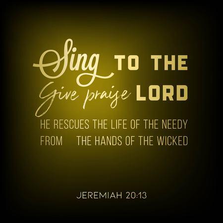 bijbelvers van Jeremia voor gebruik als poster of afdrukbaar Vector Illustratie
