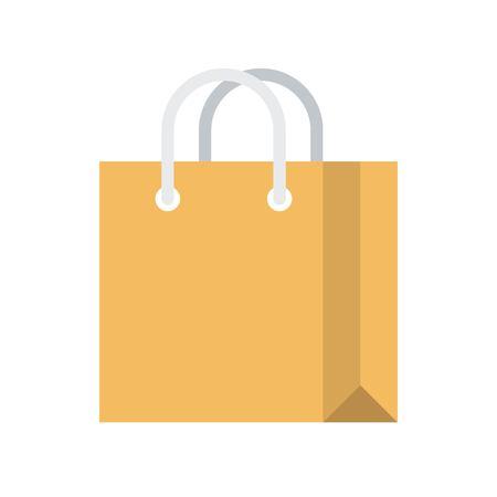 Paper bag vector illustration, flat design icon