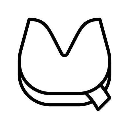Fortune cookie vector, Chinese lunar new year line design icon Standard-Bild - 125482267