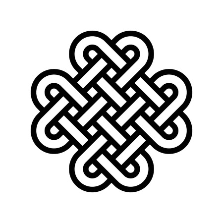Celtic knot vector, Feast of Saint Patrick line style icon Иллюстрация