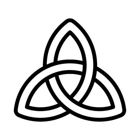Celtic knot vector, Feast of Saint Patrick line style icon Ilustração