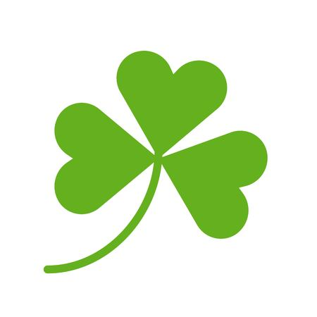 Clover vector, Feast of Saint Patrick flat style icon