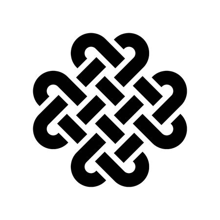 Vector de nudo celta, icono de estilo de línea de fiesta de San Patricio