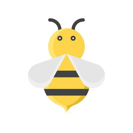 Bee vector illustration, Isolated Spring season flat icon
