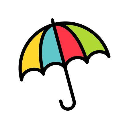 Umbrella vector, Spring season filled style icon editable stroke
