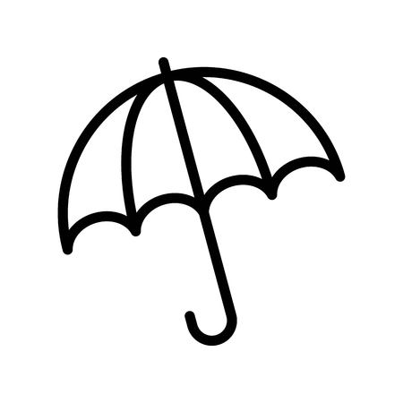 Umbrella vector illustration, Isolated Spring season line icon