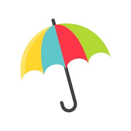 Umbrella vector illustration, Isolated Spring season flat icon Çizim