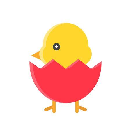 Chick vector illustration, Isolated Spring season flat icon Ilustração
