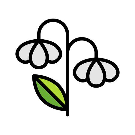 Flower vector, Spring season filled style icon editable stroke Standard-Bild - 124785091
