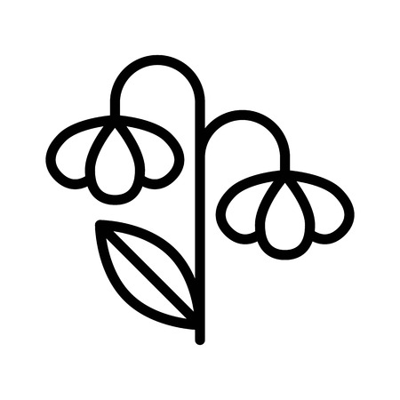 Flower vector illustration, Isolated Spring season line icon Standard-Bild - 124785097