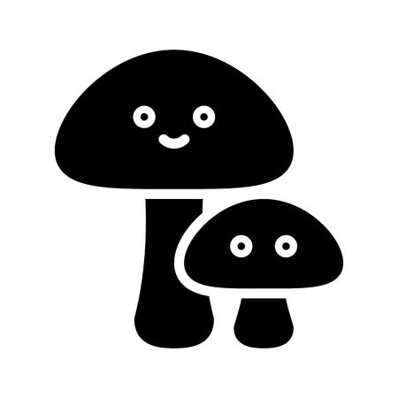 Mushrooms vector illustration, Isolated Spring season solid icon Standard-Bild - 124785103