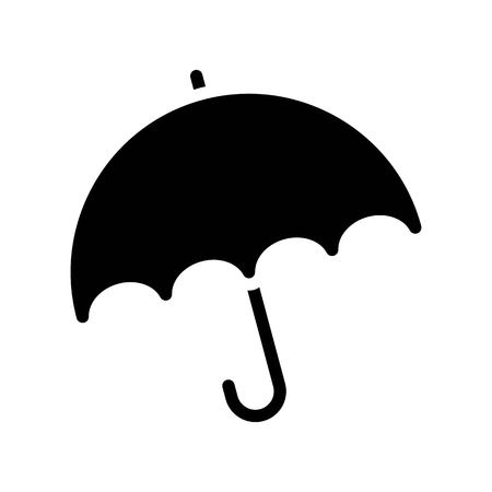 Umbrella vector illustration, Isolated Spring season solid icon