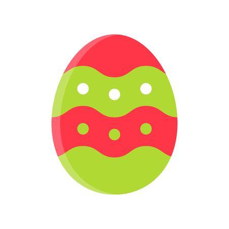 Easter egg vector illustration, Isolated Spring season flat icon Standard-Bild - 124785109