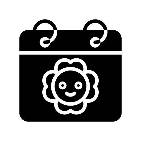 Calendar vector illustration, Isolated Spring season solid icon Standard-Bild - 124785118