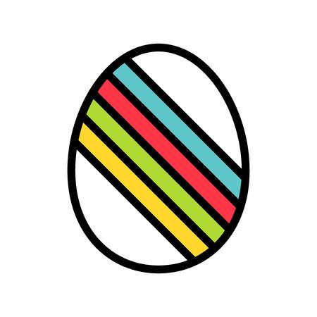 Easter egg vector, Easter filled style icon editable stroke  イラスト・ベクター素材