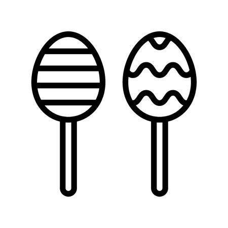 Chocolate egg vector, Easter line style icon editable stroke